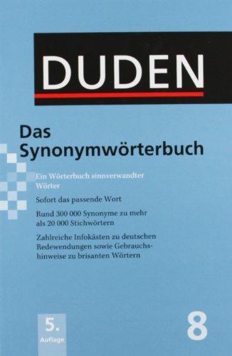 9783195317351: Der Duden in 12 Banden: 8 - Das Synonymworterbuch (German Edition)
