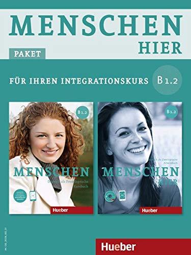 9783195519038: Menschen hier B1/2. Paket: Kursbuch mit DVD-ROM und Arbeitsbuch mit Audio-CD: Deutsch als Zweitsprache / Paket: Kursbuch