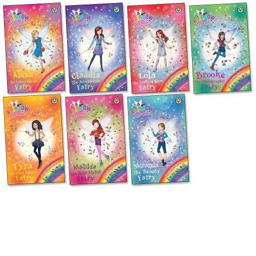9783200303225: Rainbow Magic: Fashion Fairies Pack, 7 books, RRP £34.93 (Alexa Fashion Reporter Fairy; Brooke Photographer Fairy; Claudia Accessories Fairy; Lola Fashion Show Fairy; Matilda Hair Stylist Fairy; Miranda The Beauty Fairy; Tyra Dress Designer Fairy).
