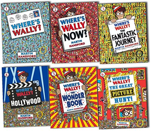 9783200330269: Where's Wally books: 6 large picture books box set (Where's Wally? Where's Wally in Hollywood / Where's Wally Now? The Great Picture Hunt / The Fantastic Journey / The Wonder Books rrp £41.94)