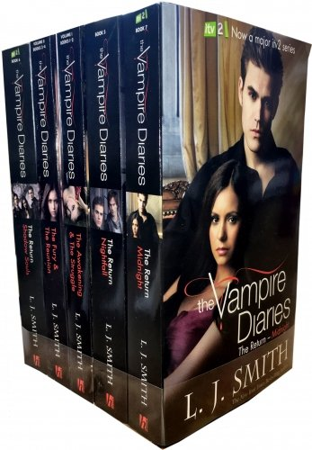 9783200331488: The Vampire Diaries Story Collection L J Smith 7 Titles in 5 Books Set TV Tie Edition (ITV 2 TV Series) (The Awakening, The Struggle, The Fury, The Reunion, Nightfall, Shadow Souls, Midnight)