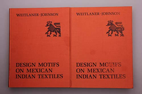 9783201009713: Design motifs on Mexican Indian textiles (Artes Americanae)