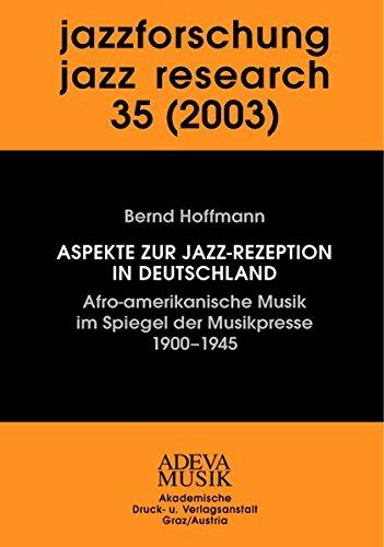 Jazzforschung / Jazz Research 35 (2003): Bernd Hoffmann