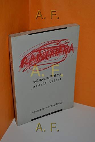 9783205052593: Raineriana : Aufsätze zum Werk von Arnulf Rainer.