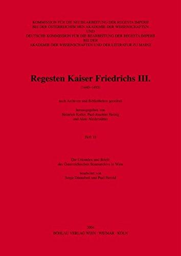 Die Urkunden und Briefe des Österreichischen Staatsarchivs in Wien: Heinrich Koller
