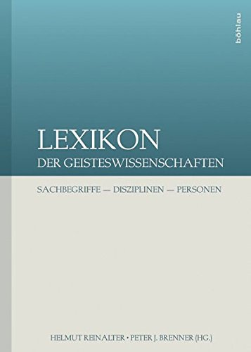 9783205785408: Lexikon der Geisteswissenschaften: Sachbegriffe - Disziplinen - Personen