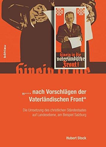 nach Vorschlägen der Vaterländischen Front - Hubert Stock