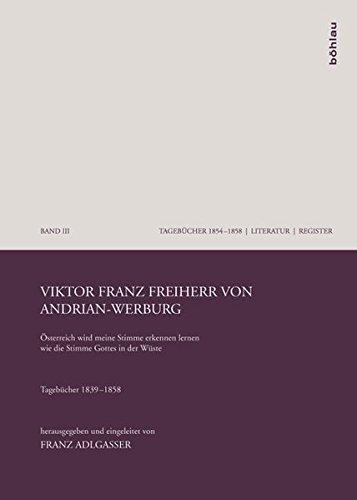 9783205786122: Viktor Franz Freiherr von Andrian-Werburg: