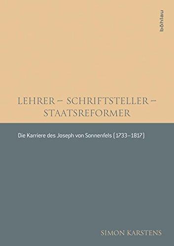 Lehrer - Schriftsteller - Staatsreformer: Simon Karstens