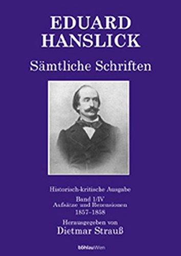 9783205992417: Eduard Hanslick - Sämtliche Schriften