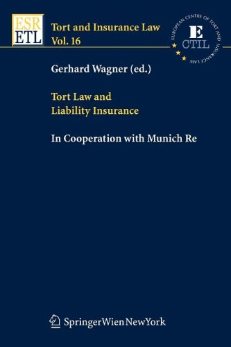 9783211100240: Tort Law and Liability Insurance