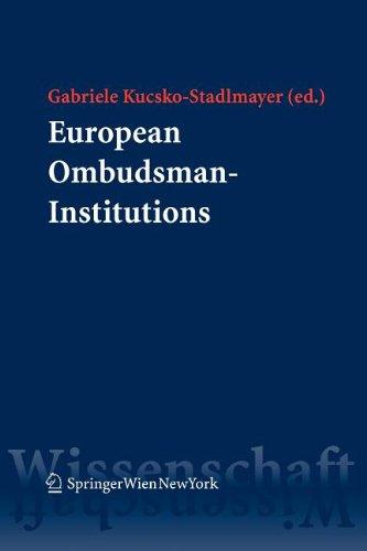9783211101643: European Ombudsman-Institutions