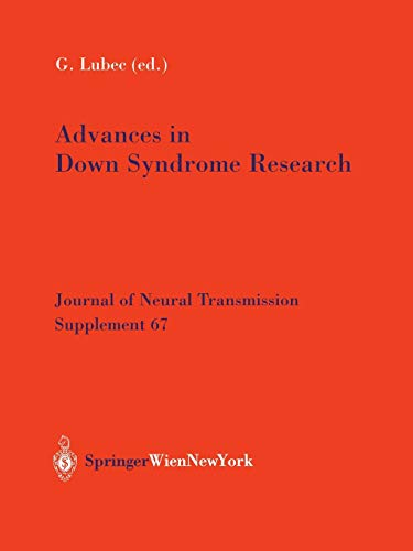 9783211407769: Advances in Down Syndrome Research (Journal of Neural Transmission. Supplementa)