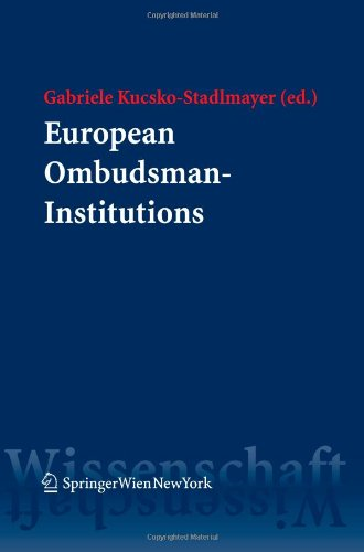 9783211728802: European Ombudsman-Institutions: A comparative legal analysis regarding the multifaceted realisation of an idea