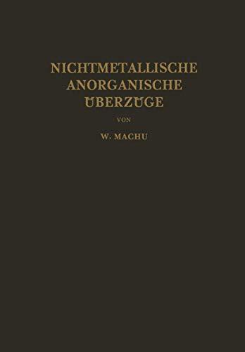 9783211802663: Nichtmetallische Anorganische Überzüge (German Edition)