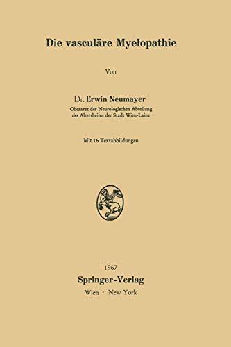 9783211808276: Die vasculäre Myelopathie (German Edition)