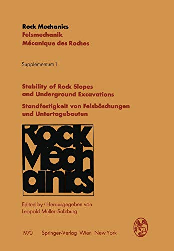 Stability of Rock Slopes and Underground Excavations: Müller, Leopold