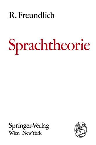 9783211809761: Sprachtheorie: Grundbegriffe und Methoden zur Untersuchung der Sprachstruktur (German Edition)