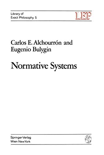 9783211810194: Normative Systems (LEP Library of Exact Philosophy)