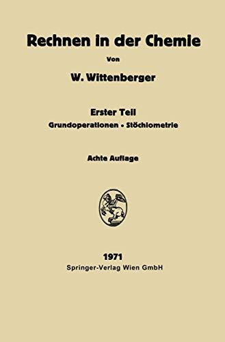 9783211810231: Rechnen in Der Chemie: Teil 1: Grundoperationen - St Chiometrie