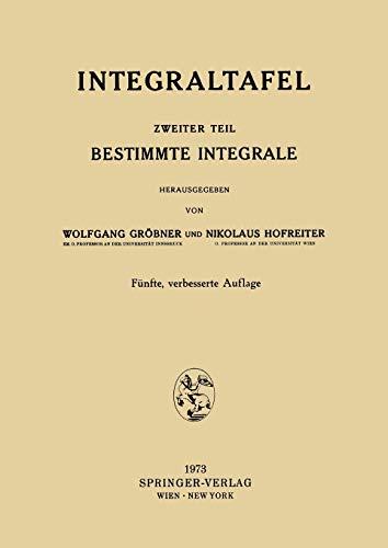 Integraltafel: Bestimmte Integrale. (Teil 2)