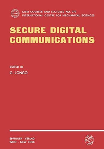9783211817841: Secure Digital Communications (CISM International Centre for Mechanical Sciences)