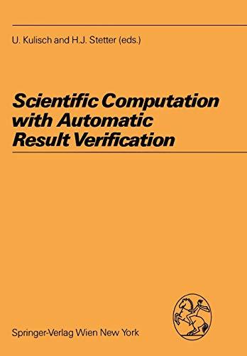 9783211820636: Scientific Computation with Automatic Result Verification (Computing Supplementa)