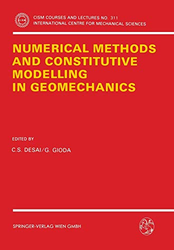9783211822159: Numerical Methods and Constitutive Modelling in Geomechanics (CISM International Centre for Mechanical Sciences)