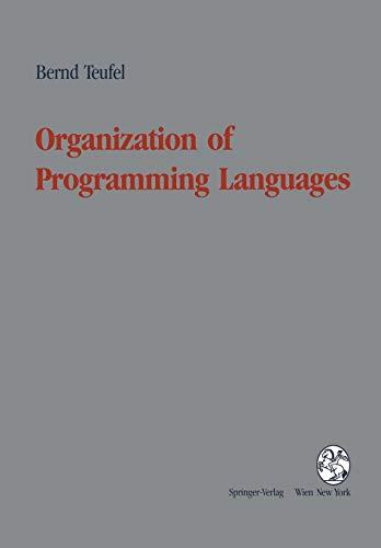 9783211823156: Organization of Programming Languages