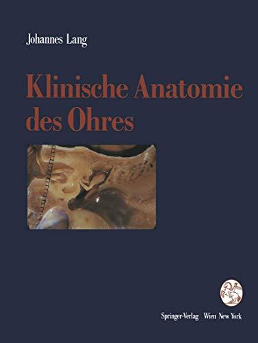 9783211823163: Klinische Anatomie des Ohres
