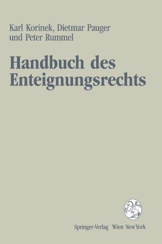 9783211825099: Handbuch des Enteignungsrechts