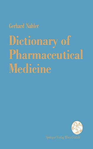 9783211825570: Dictionary of Pharmaceutical Medicine