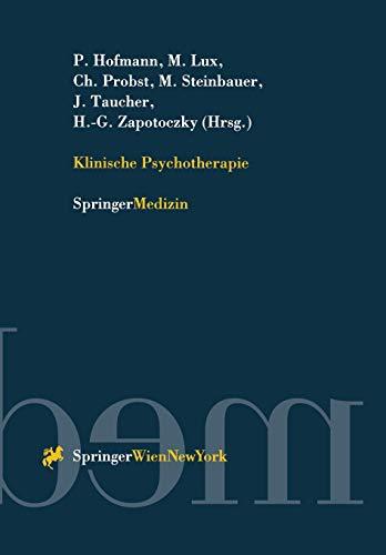9783211828809: Klinische Psychotherapie
