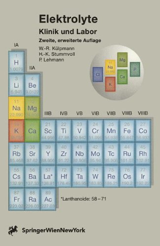 Elektrolyte: Klinik und Labor (German Edition): Lehmann, Paul, Stummvoll,