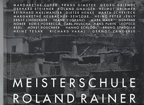 9783211831106: Meisterschule Roland Rainer: Margarethe Cufer, Frank Dimster, Georg Driendl