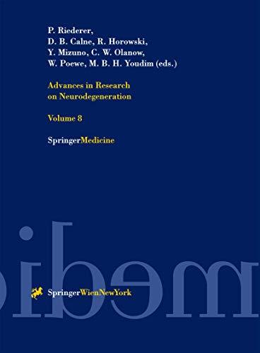 9783211835388: Advances Research on Neurodegeneration (Volume 8)