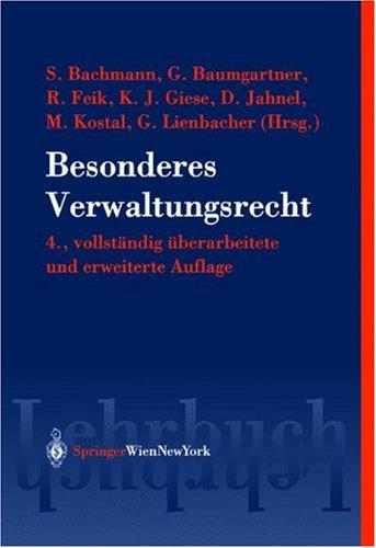 9783211838440: Besonderes Verwaltungsrecht.