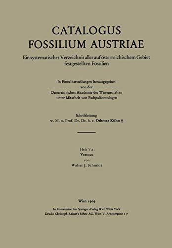 9783211863749: Vermes (Catalogus Fossilium Austriae) (German Edition)