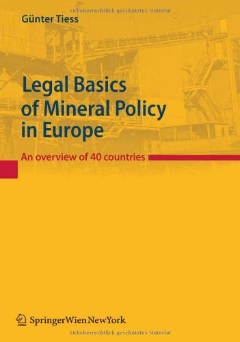 9783211890028: Legal Basics of Mineral Policy in Europe: An overview of 40 countries