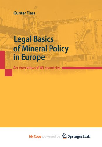 9783211891261: Legal Basics of Mineral Policy in Europe: An overview of 40 countries