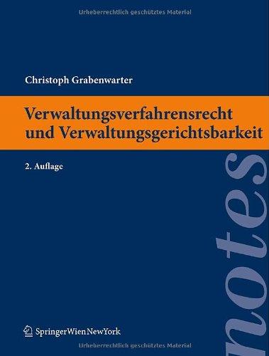 9783211993279: Verwaltungsverfahrensrecht und Verwaltungsgerichtsbarkeit (Springer Notes Rechtswissenschaft) (German Edition)