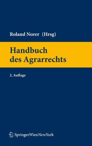9783211994726: Handbuch des Agrarrechts (Springers Handbucher Der Rechtswissenschaft)