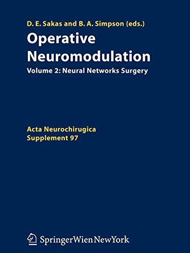 Operative Neuromodulation: Damianos E. Sakas