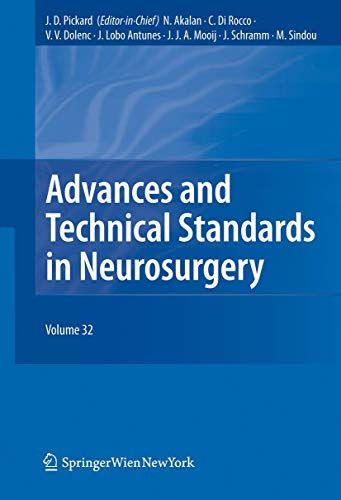9783211998908: Advances And Technical Standards In Neurosurgery Vol. 32