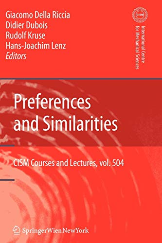 9783211999417: Preferences and Similarities (CISM International Centre for Mechanical Sciences)