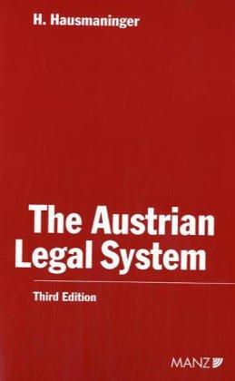 9783214002893: The Austrian Legal System