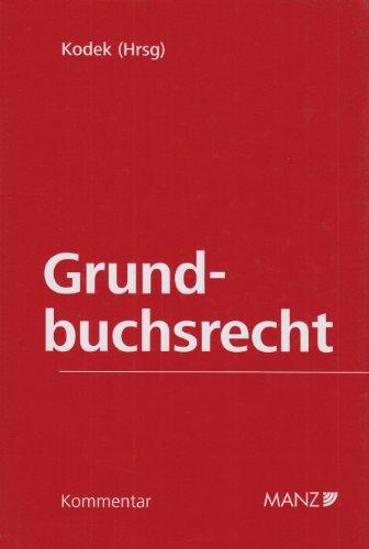 9783214004446: Kommentar zum Grundbuchsrecht, m. Erg.-Bd. (f. Osterreich)