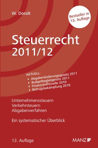 9783214004835: Steuerrecht 2011/12 (f. Österreich)