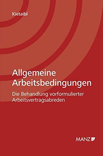 Allgemeine Arbeitsbedingungen: Christoph Kietaibl