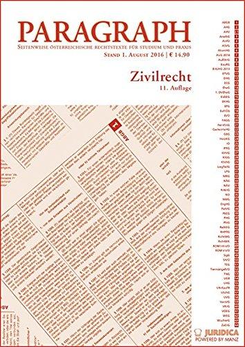 9783214013233: Zivilrecht: Paragraph. Seitenweise österreichische Rechtstexte für Studium und Praxis